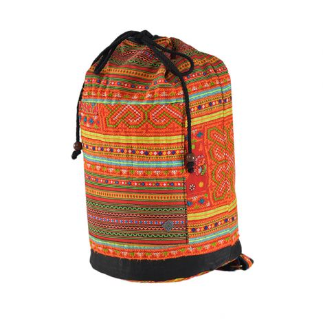 Drawstring Festival Backpack Freiheit (Hmong)
