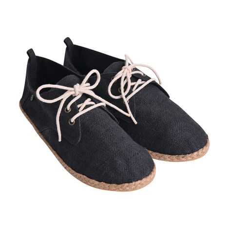 Hemp loafers Barfuß black