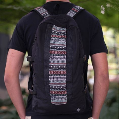 Backpack Kleinkariert black
