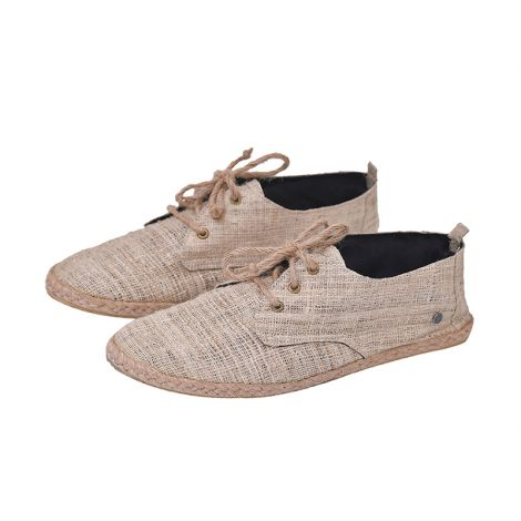 Hemp loafers Barfuß beige
