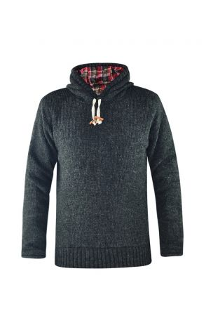 Winter Hoodie men Eiszeit black