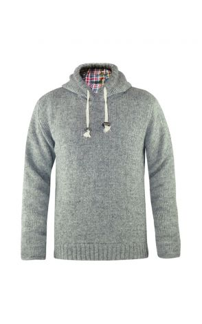 Winter Hoodie men Eiszeit grey