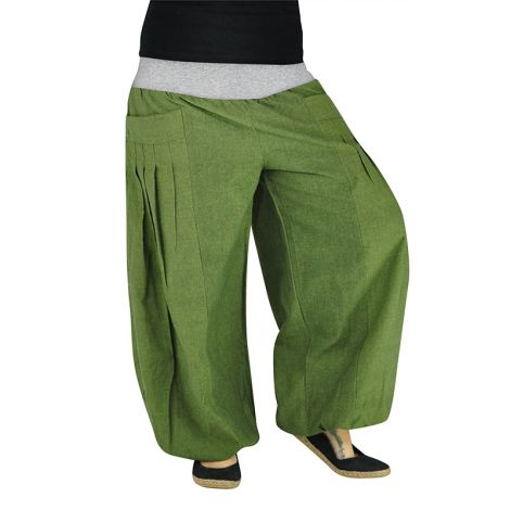 Harem Pants Yogazeit green
