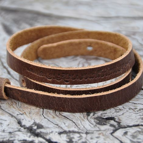 Multi functional leather band Tong